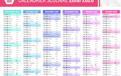 Calendario scolastico 2019/2020