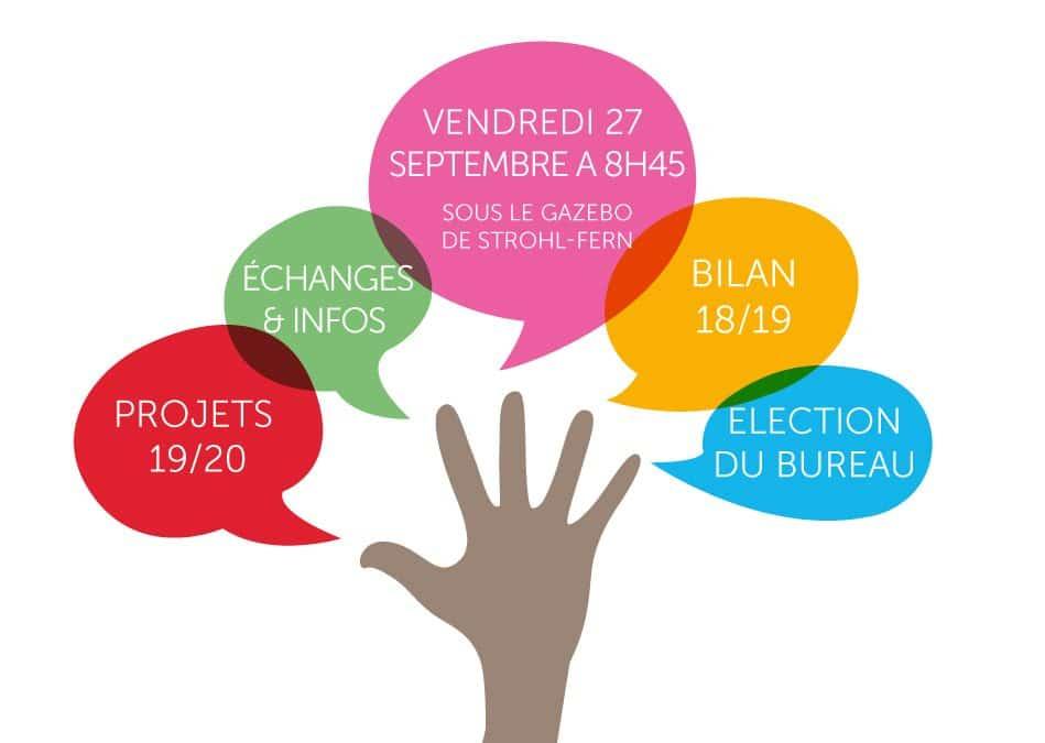 Assemblée générale 27 septembre 2019