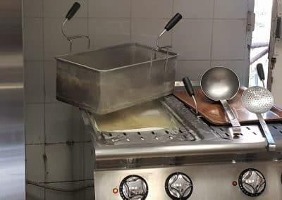 Les pâtes cuites sur place